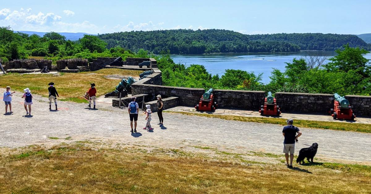 view of people at Fort Ticonderoga