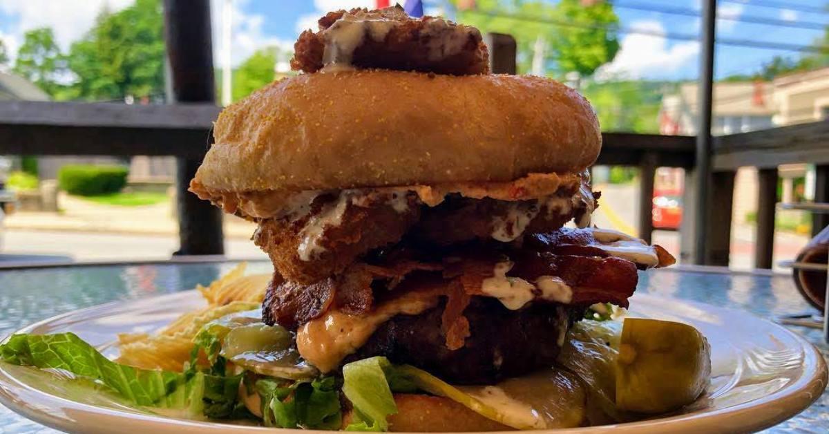 a burger at frederick's