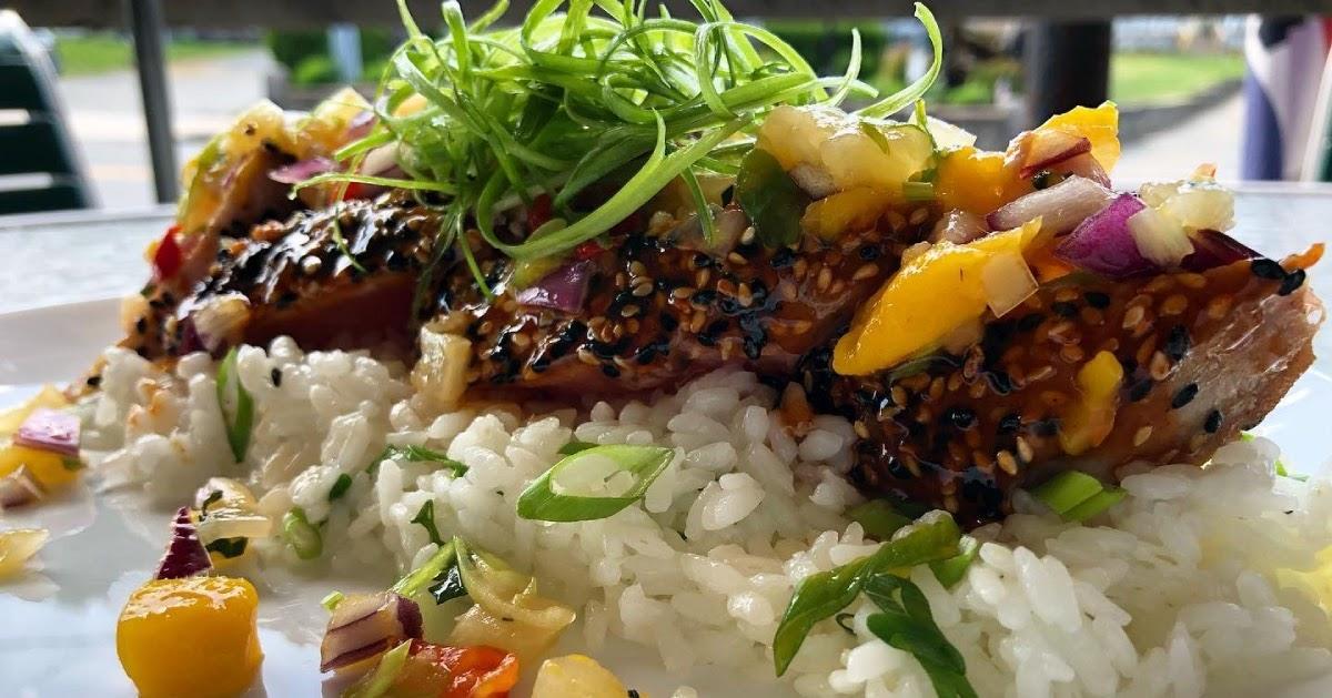 close up of what looks like a tuna dish