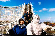 mummy on roller coaster