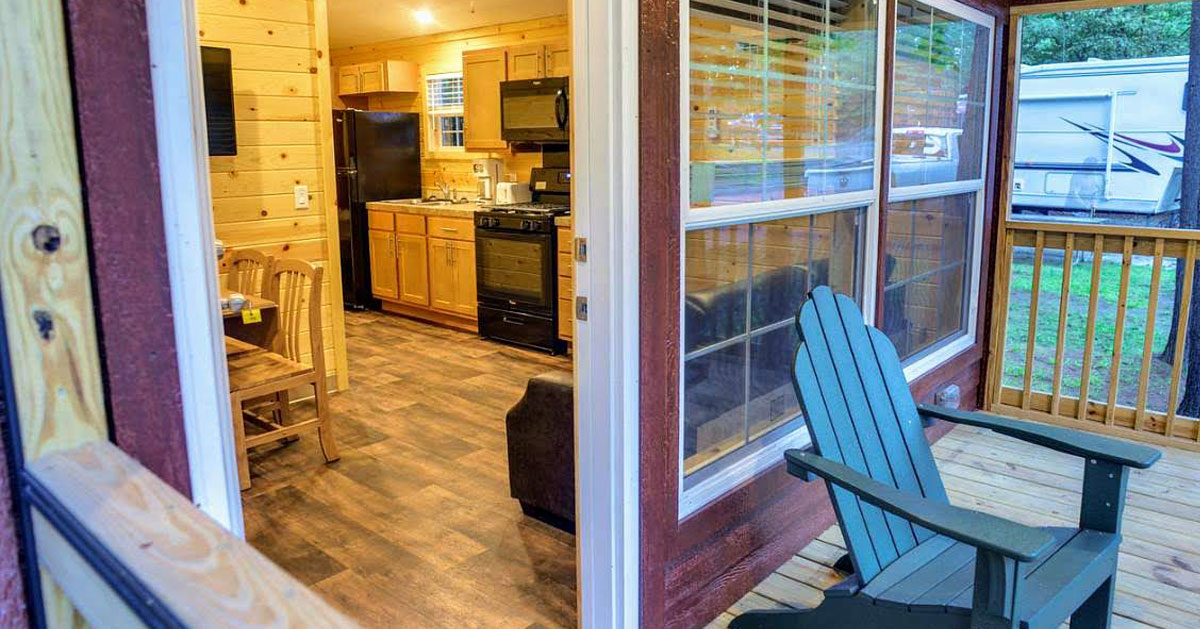 a look inside a furnished cabin