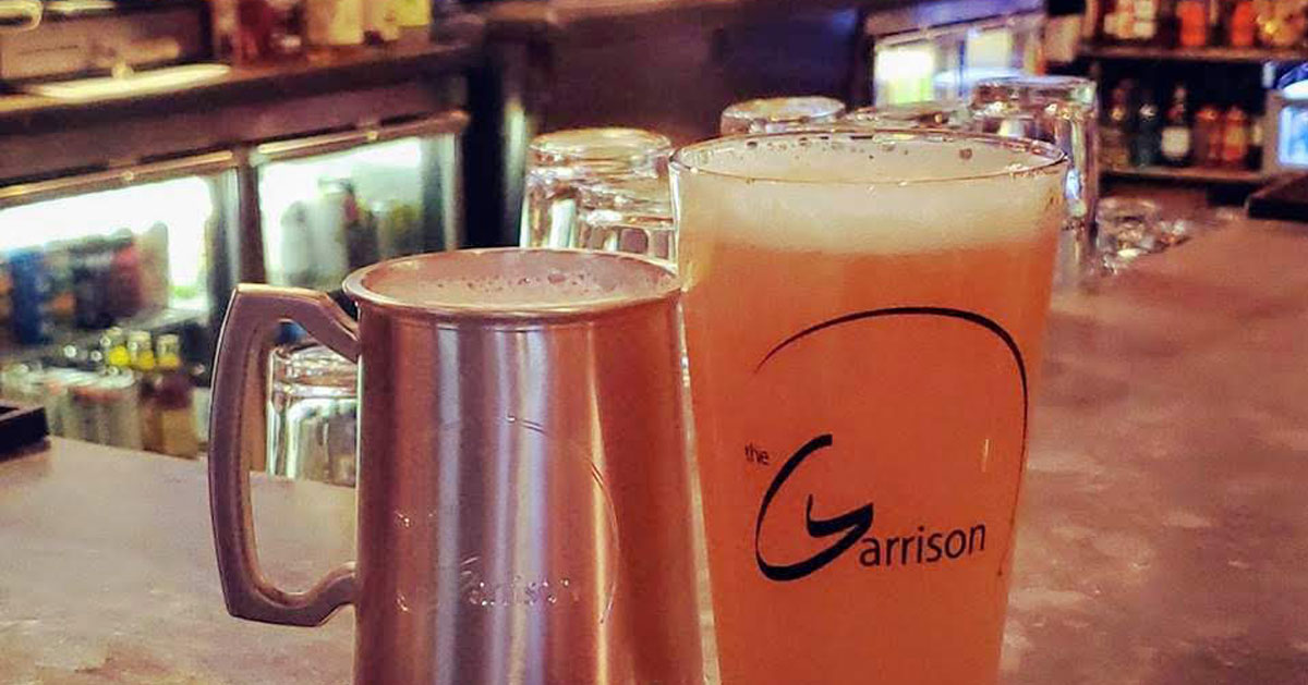 beer mugs at the Garrison