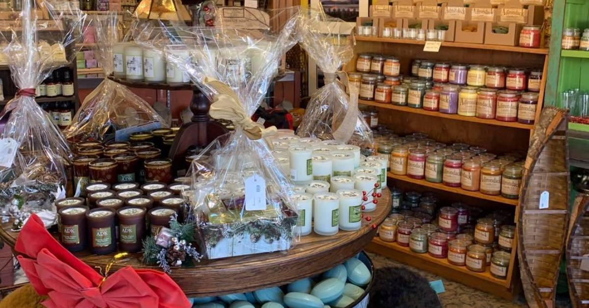 gifts on display in a store