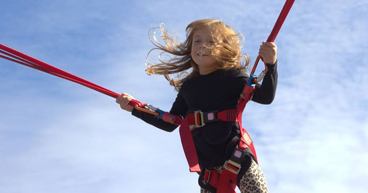 girl on bungee ropes