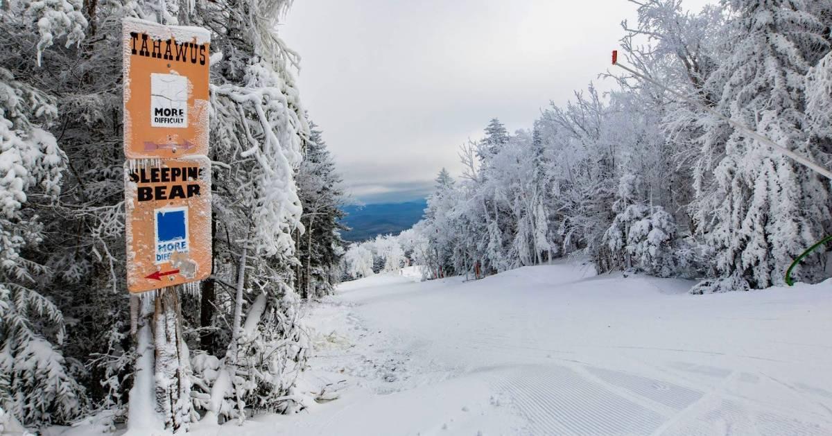 a skiing mountain