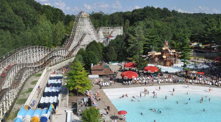 aerial view of the Comet and wave pool