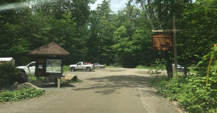 entrance lot for hog town