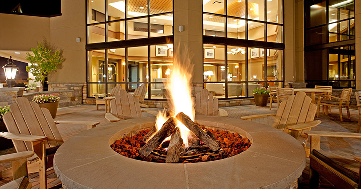 fire pit at the holiday inn