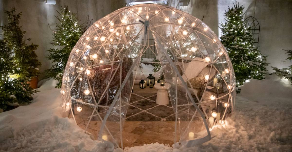 igloo for outdoor dining