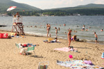 Beach on Lake George