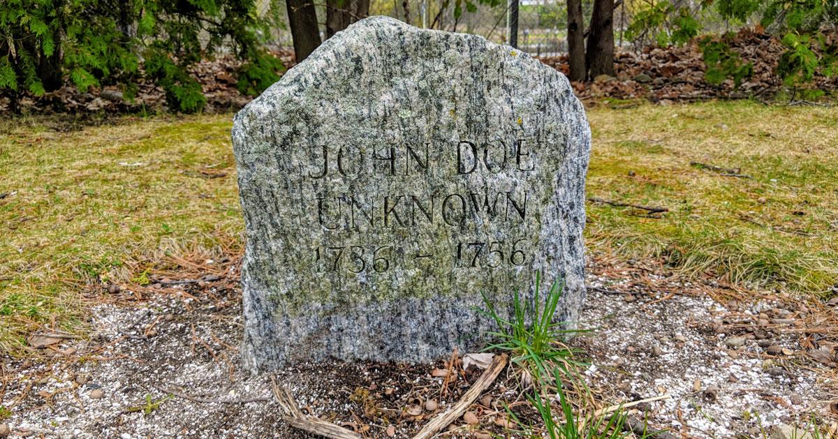 John Doe grave