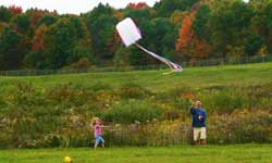 Kite Flying in Lake George