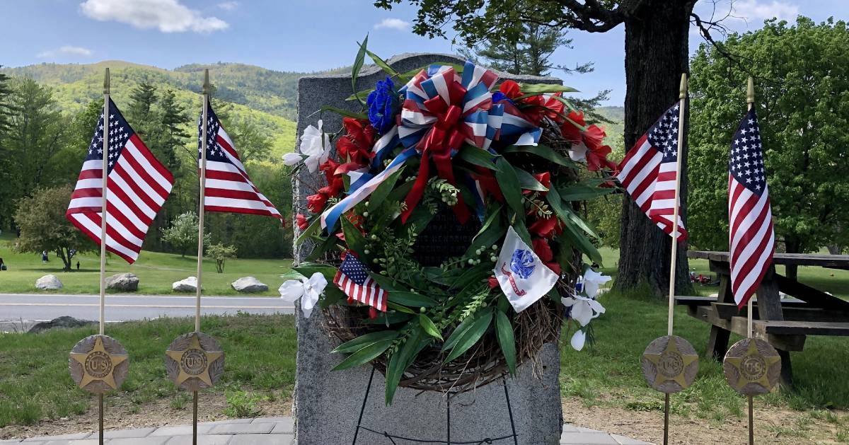 decorated memorial