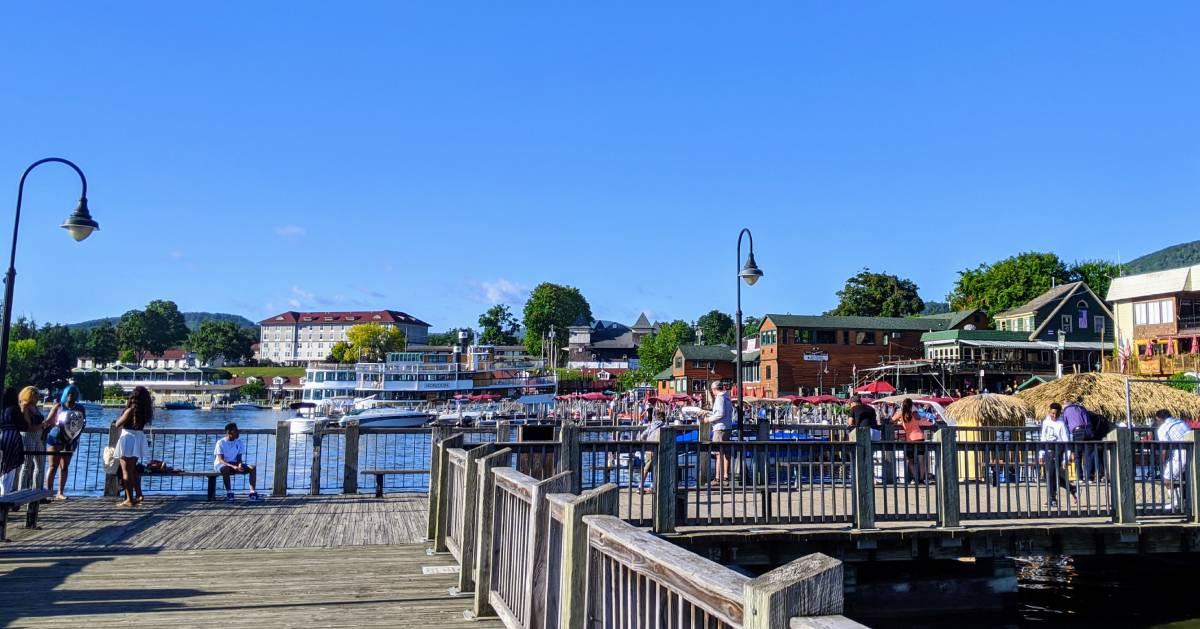 summer scene in Lake George