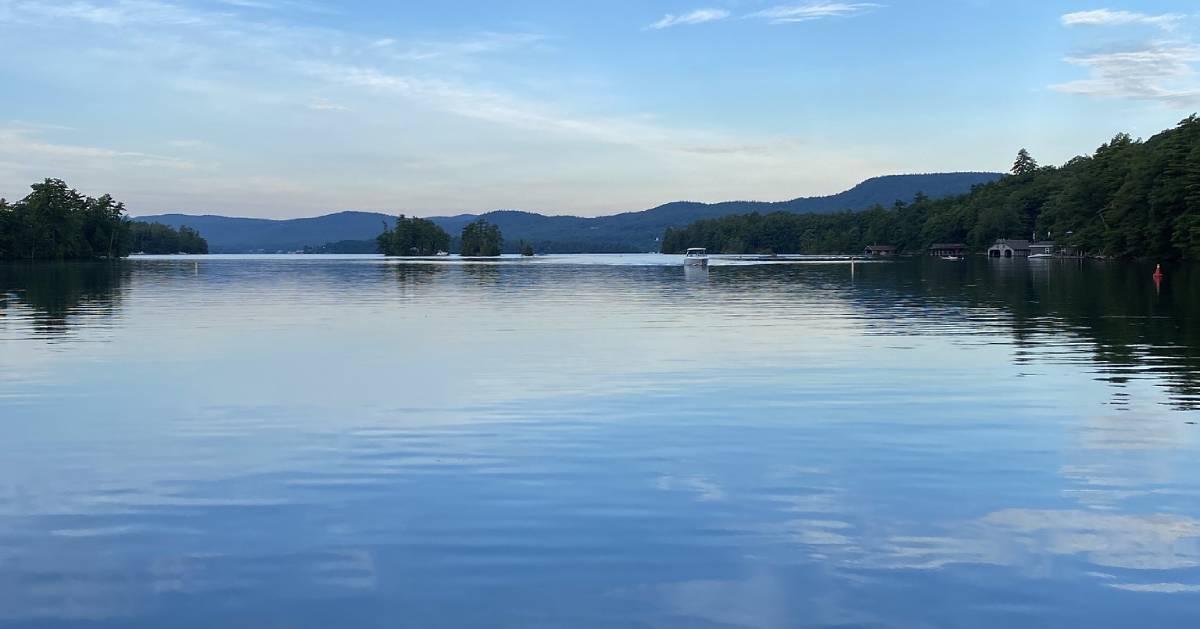 Lake George Village at sunrise