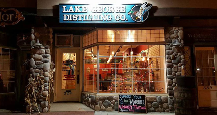 tasting room for lake george distilling
