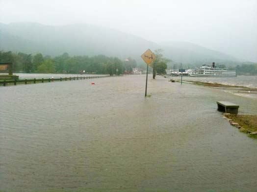 Lake George Village Flooding