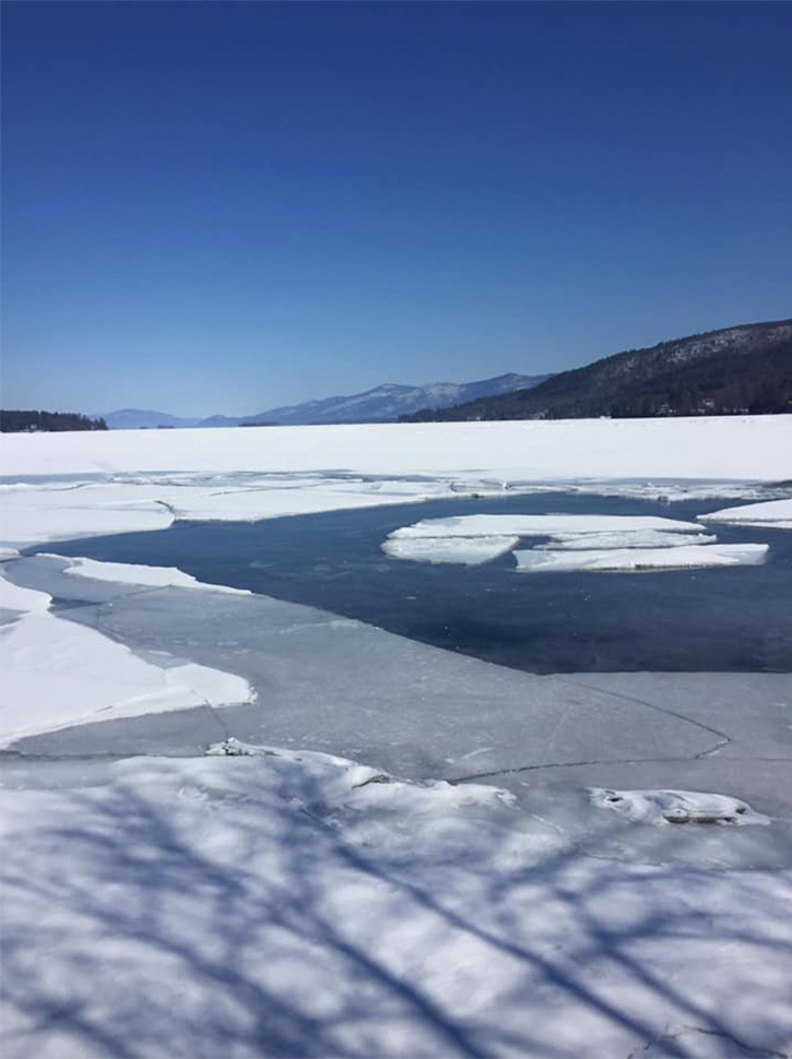 lake george in winter