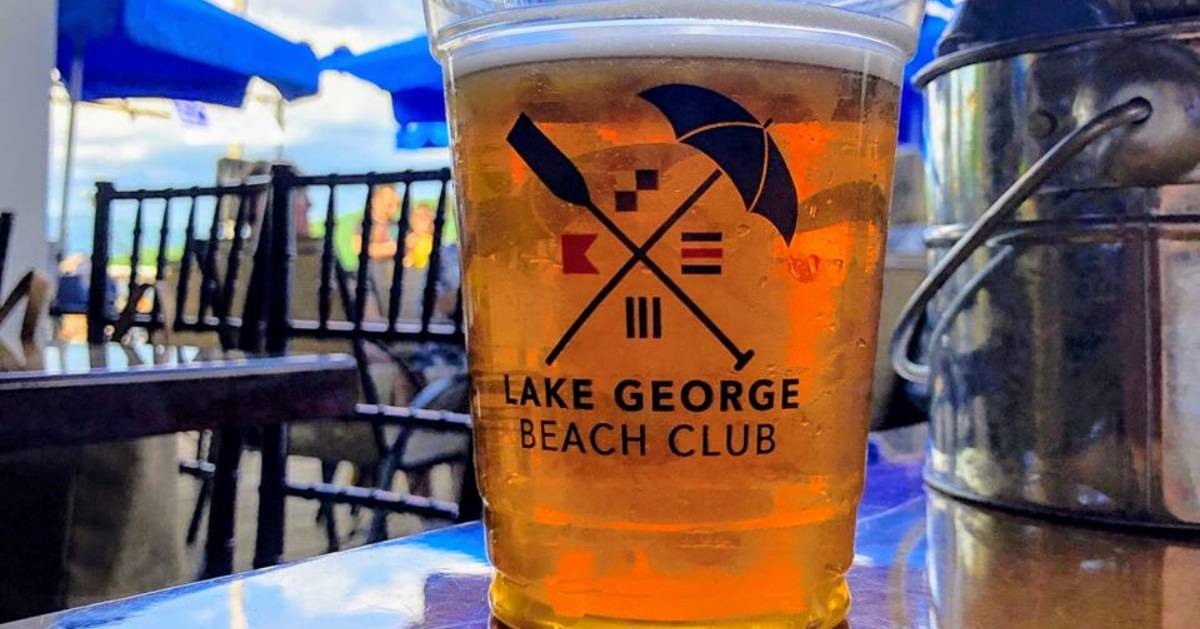 Lake George Beach Club beer