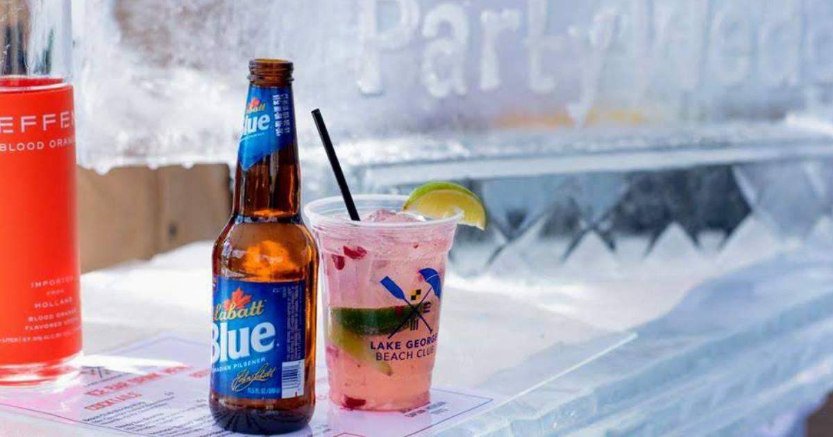 drinks on ice bar