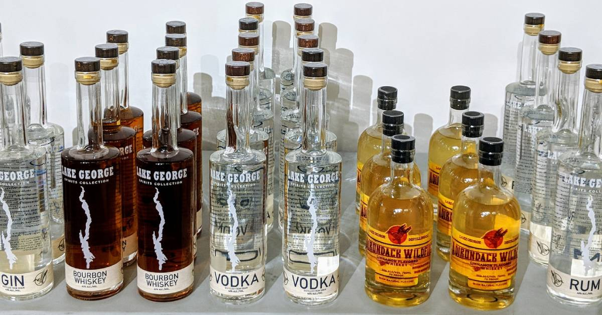 Lake George Distilling products on a table