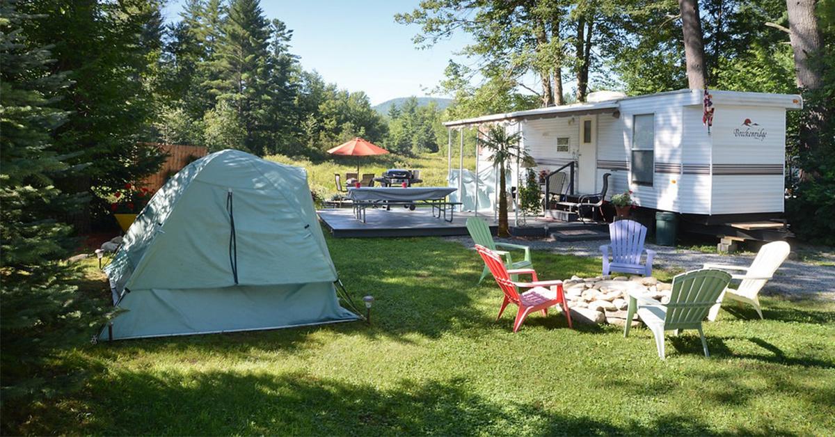 campsite at lake george escape