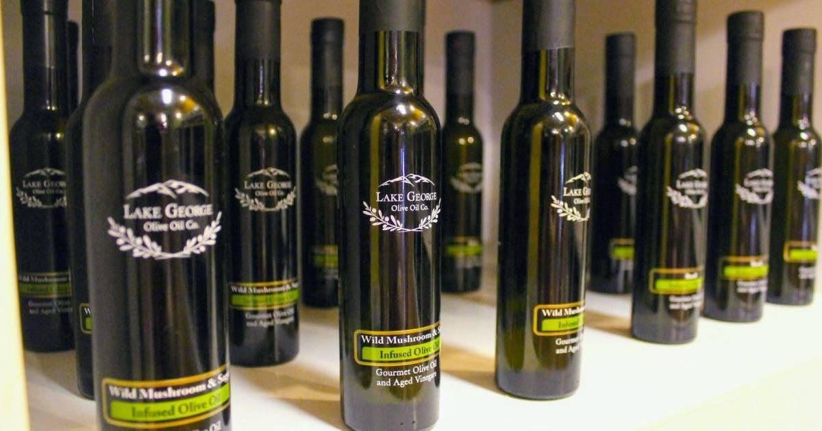 Lake George olive oil bottles