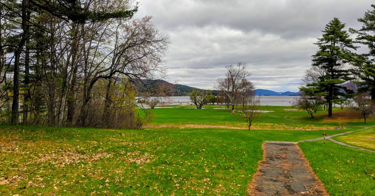 view of Lake George in the spring