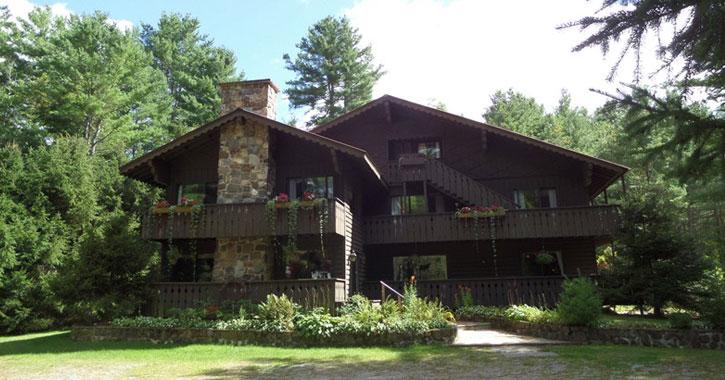 an Adirondack-style lodge