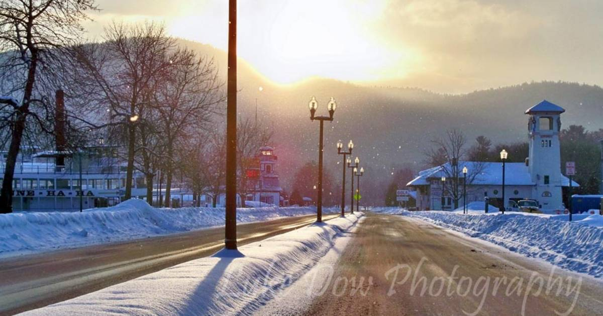 street in the winter