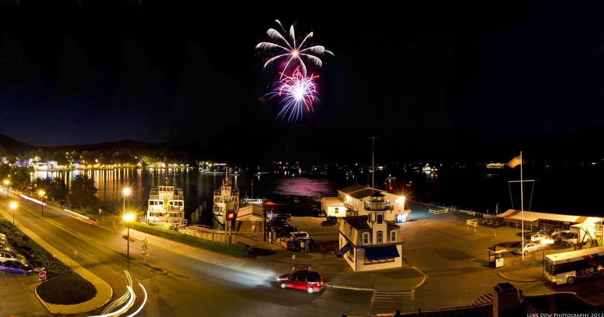 fireworks over the Village