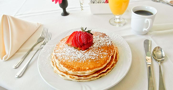 pancakes from fort william henry resort