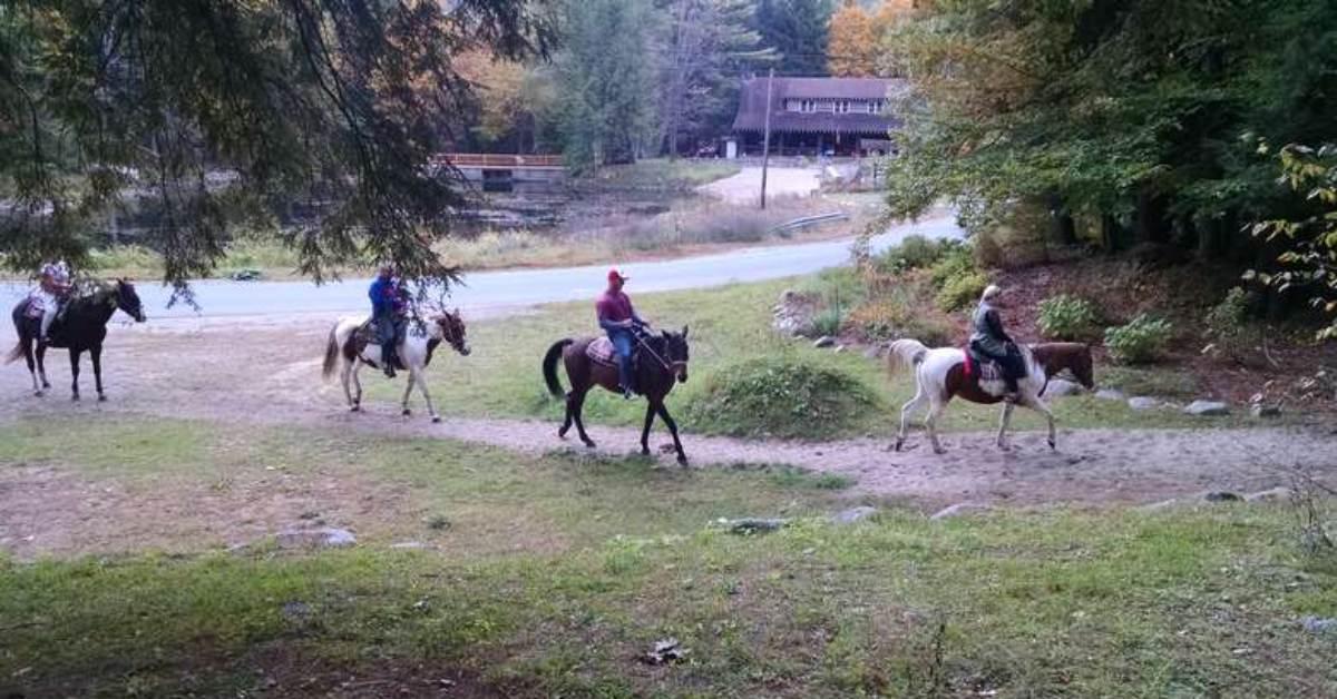 small group horseback riding