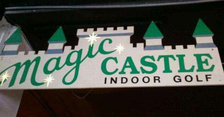 Magic Castle Indoor Golf sign