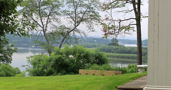 a view of the Mohawk River from the bed and breakfast