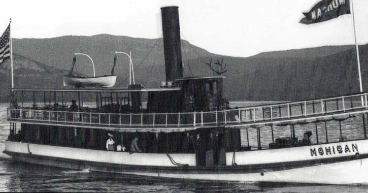 first mohican steamboat on lake george
