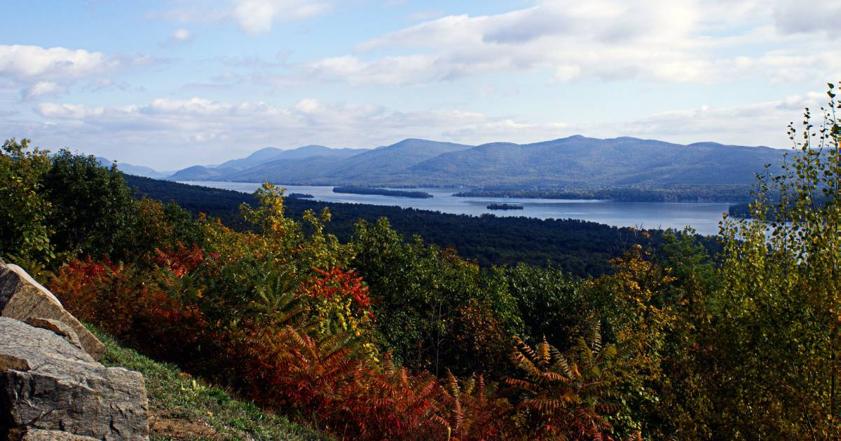 fall view from mountain