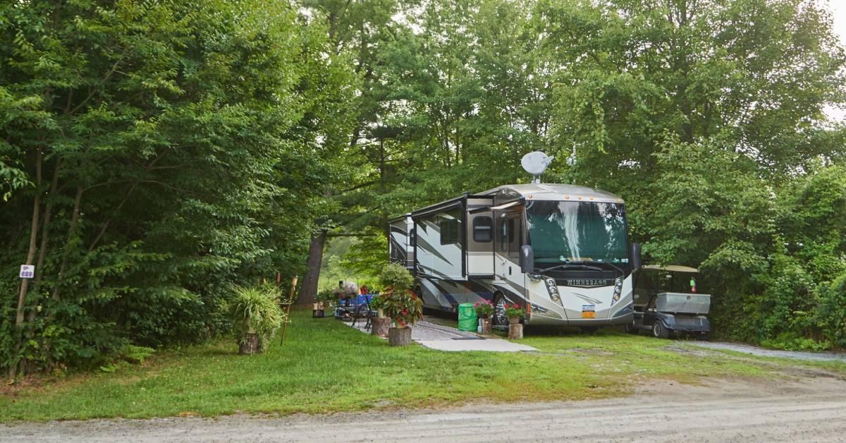 rv at a campsite