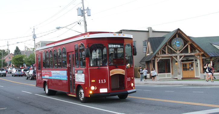 north trolley in lake george