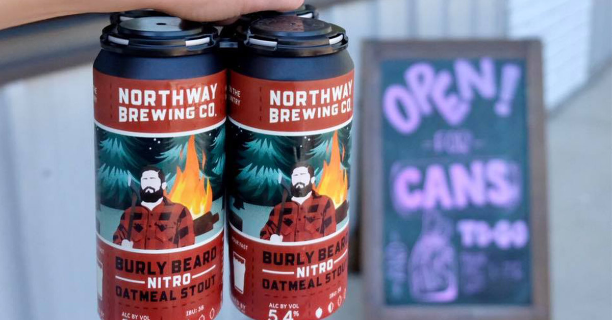 four pack of northway brewing cans