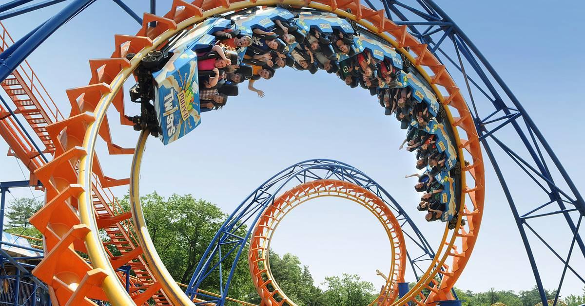 orange roller coaster