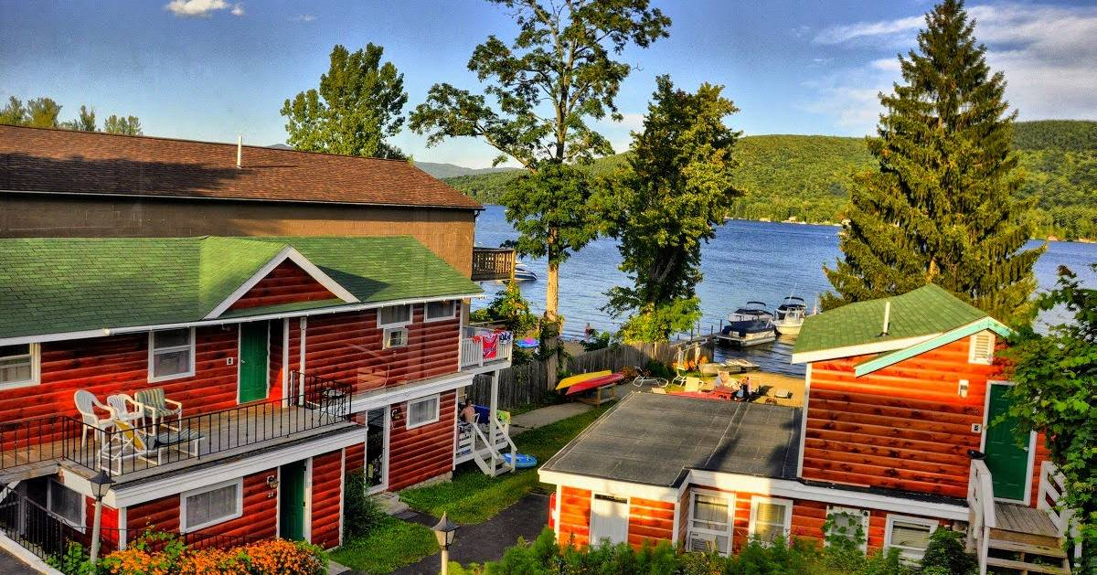 motel cottages by the lake