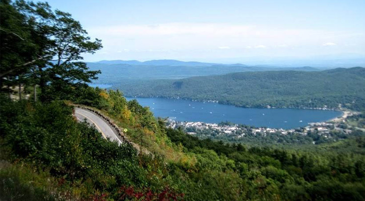 View from Prospect Mountain in Lake George