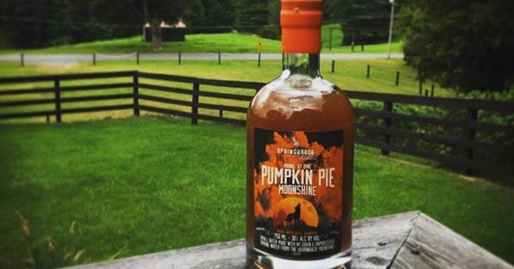 bottle of pumpkin moonshine