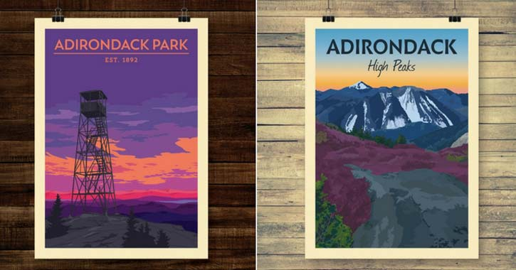 pure adk holiday poster