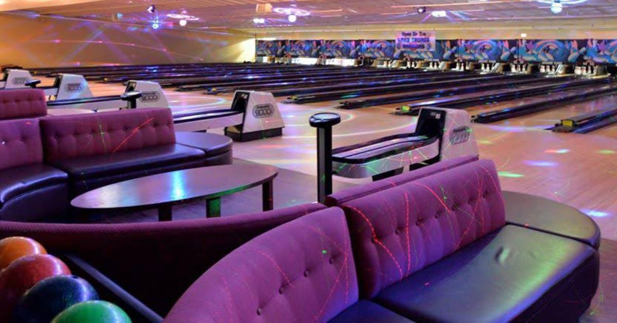 purple bowling alley