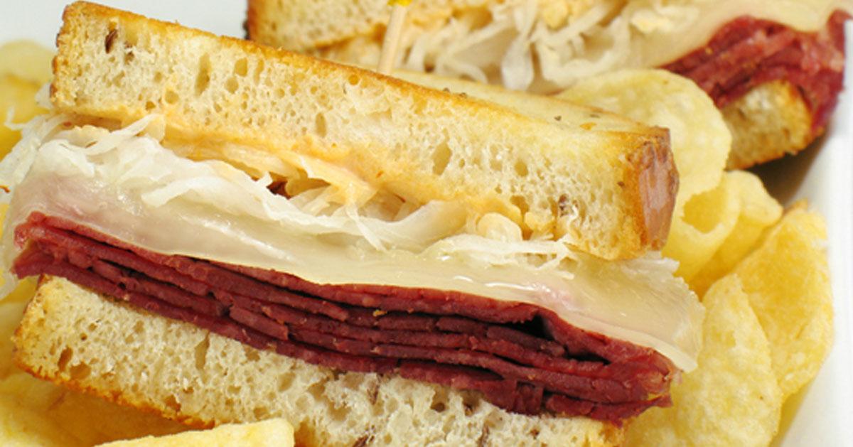a Reuben sandwich