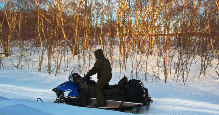 rider on a snowmobile