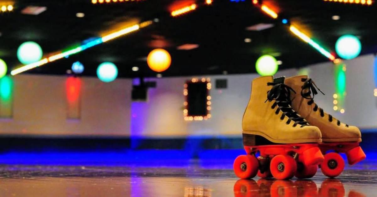 roller skates on a rink
