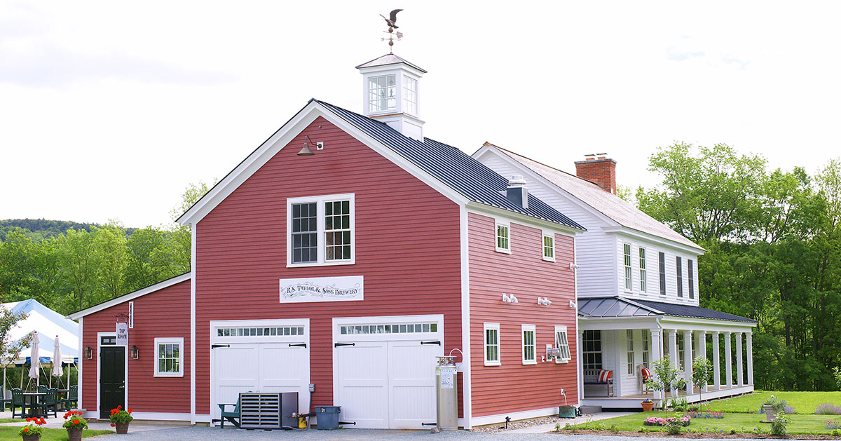 red farm brewery building